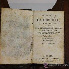 Libros antiguos: 5890- LES HERMITES EN LIBERTE. E. JOUY. ET A. JAY. LIB. CHEZ LADVOCAT. 2 VOL EN 1 TOMO.1824. . Lote 54641810