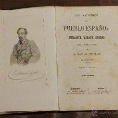 Libros antiguos: 7185 - LOS MISTERIOS DEL PUEBLO ESPAÑOL. TOMOS I Y III(VER DESCRIP). LIB. LOPEZ. 1868.. Lote 53973302