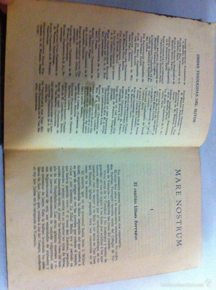 Libros antiguos: Antigua novela Blasco Ibáñez MARE NOSTRUM 1916 - Foto 9 - 56657502