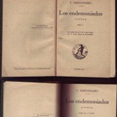 Libros antiguos: LOS ENDEMONIADOS, LOS. 3 VOLS. DOSTOYEVSKY, F, MADRID. CALPE, ED. 1924. . Lote 56742809