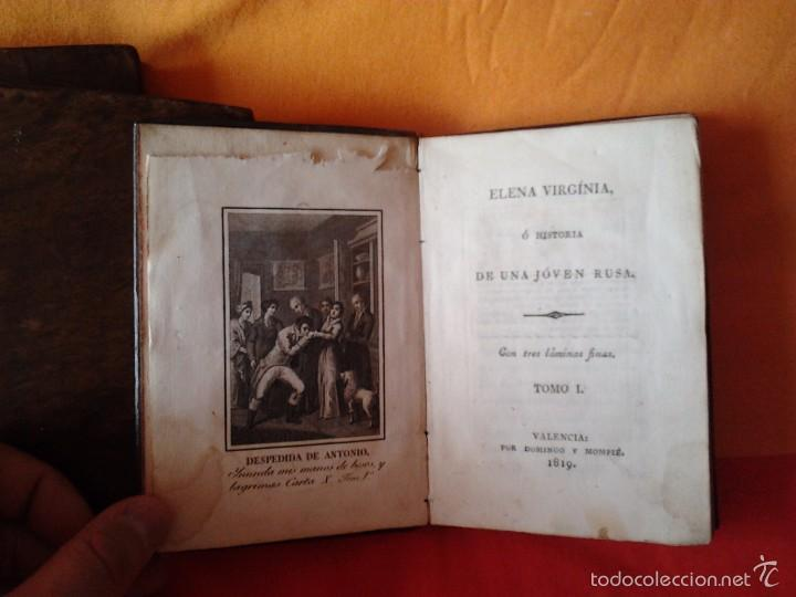 Libros antiguos: ELENA VIRGINIA O HISTORIA DE UNA JOVEN RUSA. ANONIMO (3 TOMOS) VALENCIA, DOMINGO Y MOMPIE, 1819 - Foto 3 - 56955122