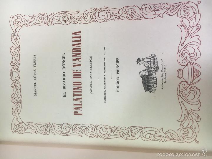 Libros antiguos: PALATINO DE VANDALIA - Foto 2 - 57527310