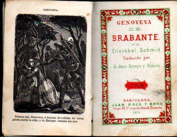 SCHMID : GENOVEVA DE BRABANTE (ROCA Y BROS, 1873) (Libros antiguos (hasta 1936), raros y curiosos - Literatura - Narrativa - Novela Histórica)