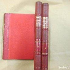 Libros antiguos: LA FAMILIA DE LEON ROCH - PEREZ GALDOS - 3 TOMOS EDI LA GUIRNALDA 5ª 1888 18CM, MEDIA PIEL, NERVIOS.. Lote 64982551