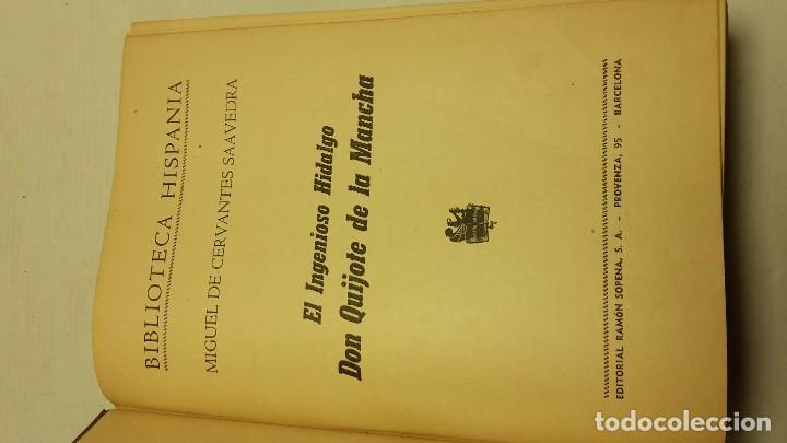 Libros antiguos: EL INGENIOSO HIDALGO DON QUIJOTE DE LA MANCHA / EDITORIAL RAMÓN SOPENA, 1958 - Foto 3 - 75504405