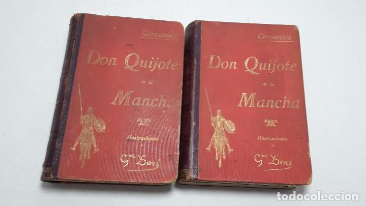 Libros antiguos: DON QUIJOTE DE LA MANCHA DOS TOMOS COMPLETO. - Foto 2 - 71599759