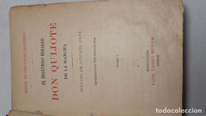 Libros antiguos: DON QUIJOTE DE LA MANCHA DOS TOMOS COMPLETO. - Foto 3 - 71599759