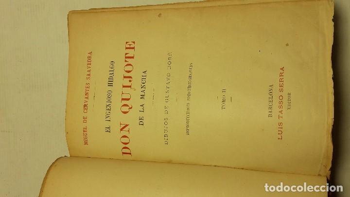 Libros antiguos: DON QUIJOTE DE LA MANCHA DOS TOMOS COMPLETO. - Foto 6 - 71599759