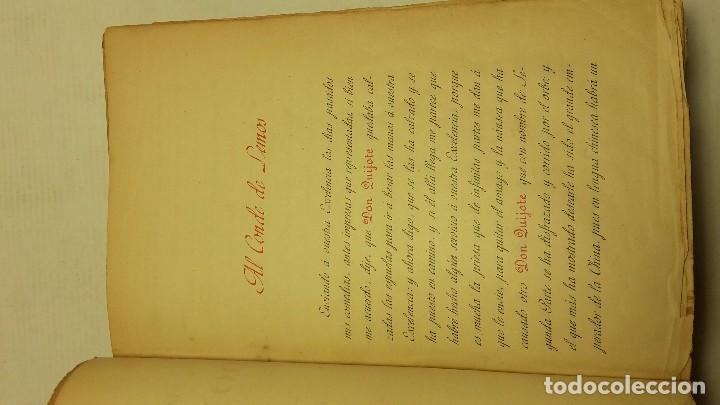 Libros antiguos: DON QUIJOTE DE LA MANCHA DOS TOMOS COMPLETO. - Foto 7 - 71599759