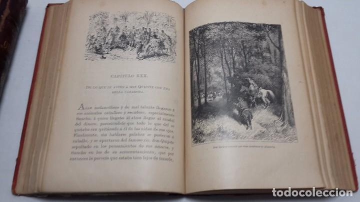 Libros antiguos: DON QUIJOTE DE LA MANCHA DOS TOMOS COMPLETO. - Foto 8 - 71599759