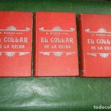 Libros antiguos: EL COLLAR DE LA REINA, DE DUMAS - 3 VOLS, ED. LUIS TASSO. Lote 73660287