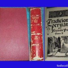 Libros antiguos: 1952 TRADICIONES PERUANAS TM 2 RICARDO PALMA ILUSTRA FERNANDO MARCO ESPASA CALPE. Lote 75431495