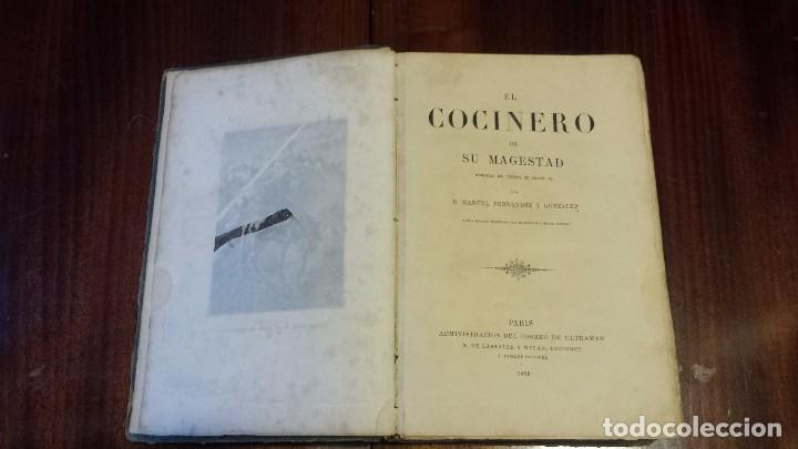 EL COCINERO DE SU MAGESTAD POR MANUEL FERNÁNDEZ Y GONZÁLEZ. CON MAGNÍFICAS LÁMINAS (1865) (Libros antiguos (hasta 1936), raros y curiosos - Literatura - Narrativa - Novela Histórica)