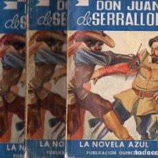 Libros antiguos: VICTOR BALAGUER : DON JUAN DE SERRALLONGA - 4 TOMOS ( NOVELA AZUL, 1937). Lote 78040941