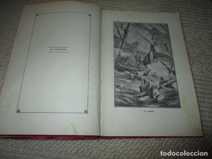 Libros antiguos: La hija de un héroe de Lepanto. Novela histórica del siglo XVI, Biblioteca Esmeralda. Circa 1900 - Foto 3 - 78649281