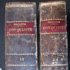 Libros antiguos: EL QUIJOTE 4 TOMOS EN 2 VOLUMENES EN PIEL 1819 IMPRENTA REAL 11X17CM. 1º Y 2º 769 PAG. 3ºY4º 809PAG. Lote 80991044