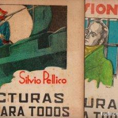 Libros antiguos: SILVIO PELLICO : MIS PRISIONES - 2 VOLS.(LECTURAS PARA TODOS, 1936) ILUSTRACIONES DE COBOS. Lote 81013880