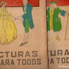 Libros antiguos: WALTER SCOTT : WAVERLEY - 2 VOLS.(LECTURAS PARA TODOS, 1935). Lote 81026084