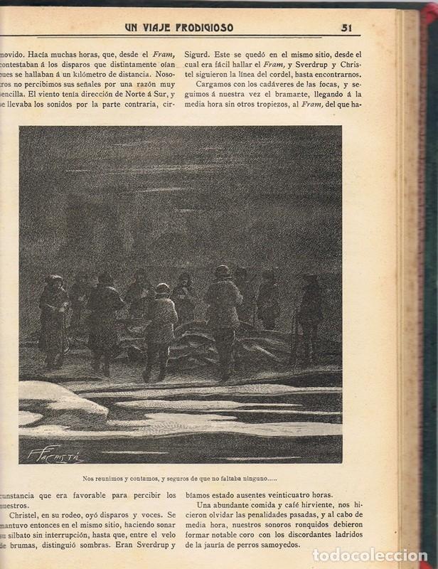 Libros antiguos: UN VIAJE PRODIGIOSO JAIME BRAGADO 1906 - Foto 4 - 90195380