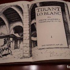 Libros antiguos: TIRANT LO BLANC. VOLUM I - MANUEL BOIX GRAVADOS.. Lote 90547710