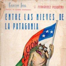 Libros antiguos: J. FERNÁNDEZ PESQUERO : ENTRE LAS NIEVES DE LA PATAGONIA (BAUZÁ, C. 1930). Lote 95213275