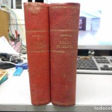 Libros antiguos: OBRA COMPLETA DOS TOMOS CELOS DE MADRE POR LUIS DE VAL LAMINAS AL CROMO,XIX GRAN ESTADO. Lote 96452075