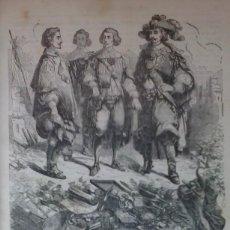 Libros antiguos: LOS TRES MOSQUETEROS (1853) / ALEJANDRO DUMAS. 181 GRABADOS ¡¡ DIFÍCIL Y MUY BONITO !!. Lote 97675123