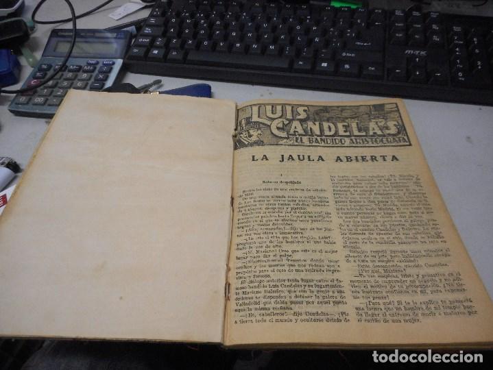 LIBRO LUIS CANDELAS EL BANDIDO ARISTOCRATA CREO SOBRE 1890 16 CUADERNOS EN UN TOMO (Libros antiguos (hasta 1936), raros y curiosos - Literatura - Narrativa - Novela Histórica)