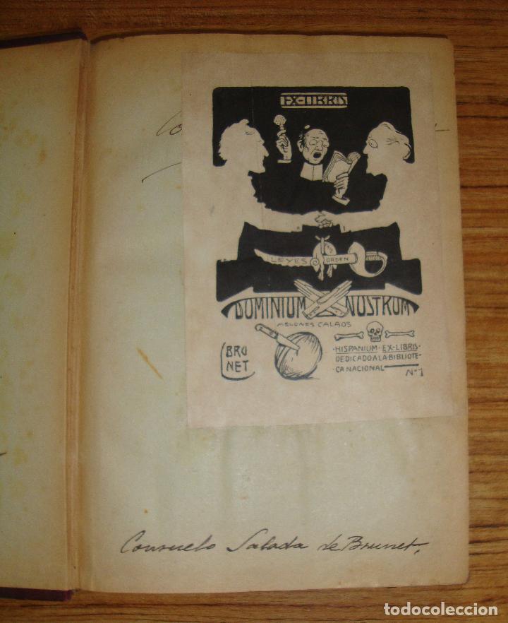 Libros antiguos: (TC-47) AMORES MALDITOS CAROLINA INVERNIZIO VERTIDA CASTELLANO JESUS PARDO CON EX LIBRIS 1911 - Foto 4 - 101044695