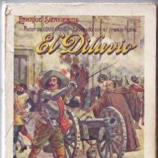 Libros antiguos: LIBRO EL DILUVIO. NOVELA DE ENRIQUE SIENKIEWICZ. 1933. Lote 101069903