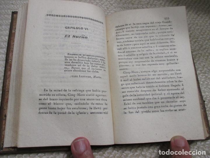 Libros antiguos: Una conspiración en tiempo de Luis XIII por el conde Alfredo de Vigny, 1839 Plena piel, 1ª Edición - Foto 4 - 101218211