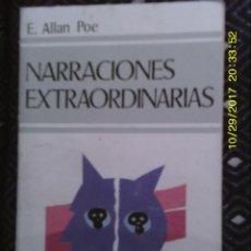 Libros antiguos: LIBRO Nº 1032 NARRACIONES EXTRAORDINARIAS DE E. ALLAN POE. Lote 101773655