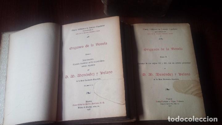 Libros antiguos: Orígenes de la Novela. Menéndez y Pelayo. Colección Completa (4 vol) N. Biblioteca Autores Españoles - Foto 3 - 182182852