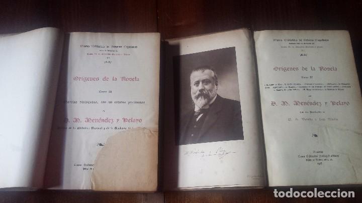 Libros antiguos: Orígenes de la Novela. Menéndez y Pelayo. Colección Completa (4 vol) N. Biblioteca Autores Españoles - Foto 4 - 182182852