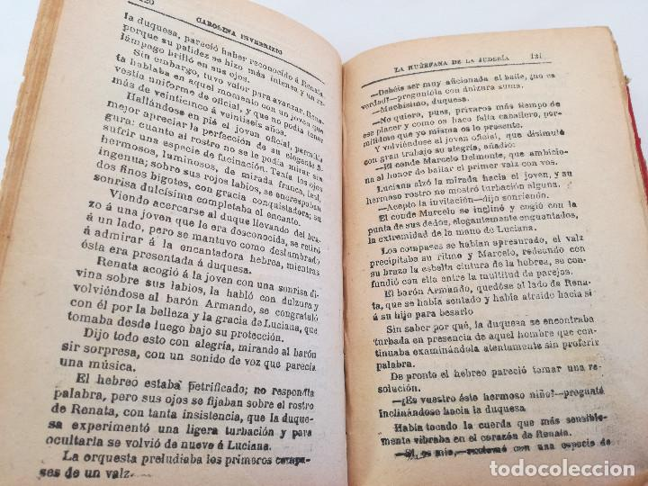 Libros antiguos: 1901: LA HUÉRFANA DE LA JUDERÍA - PASIONES Y DELITOS - DOS OBRAS DE CAROLINA INVERNIZIO - Foto 4 - 103228143