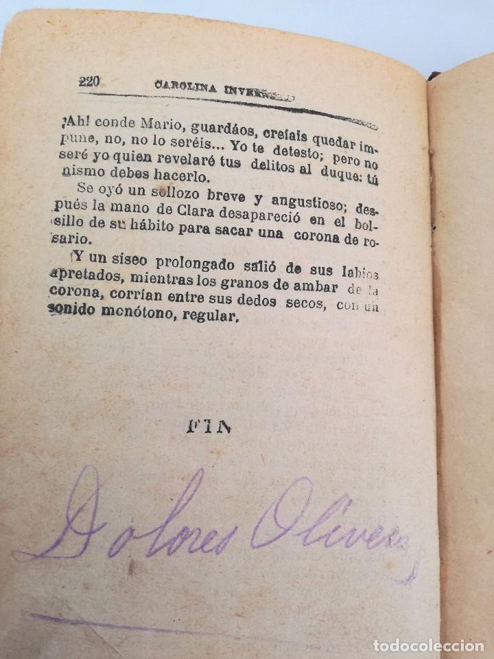 Libros antiguos: 1901: LA HUÉRFANA DE LA JUDERÍA - PASIONES Y DELITOS - DOS OBRAS DE CAROLINA INVERNIZIO - Foto 7 - 103228143