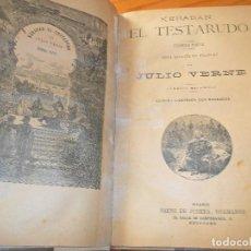 Libros antiguos: KERABAN EL TESTARUDO- JULIO VERNE - NOVELA EN 4 PARTES EN 1 SOLO TOMO- ILUSTRADA- SAENZ DE JUBERA . Lote 103943015