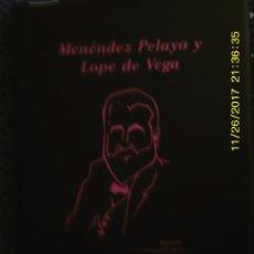 Libros antiguos: LIBRO Nº 1323 MENEDEZ PELAYO Y LOPE DE VEGA DE GUILLERMO SERES GUILLEN. Lote 104547795