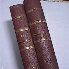 Libros antiguos: EL DILUVIO 1901. ENRIQUE SIENKIEWICZ. 2 TOMOS. CASA EDITORIAL MAUCCI.BARCELONA.. Lote 105802007