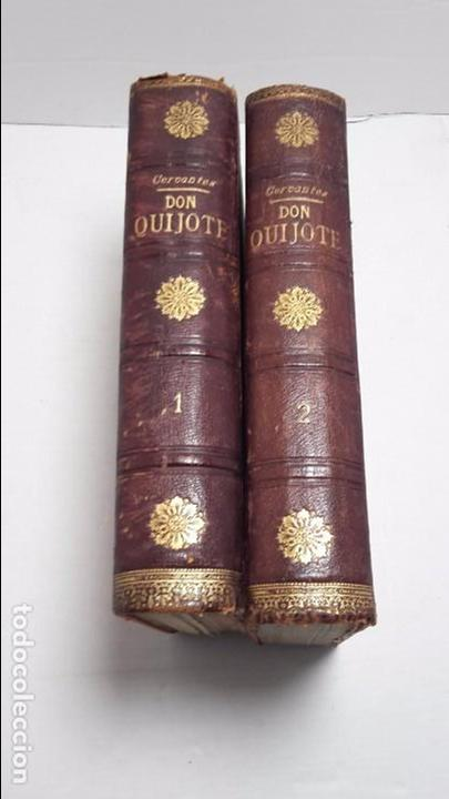 DON QUIJOTE DE LA MANCHA DOS TOMOS COMPLETO. (Libros antiguos (hasta 1936), raros y curiosos - Literatura - Narrativa - Novela Histórica)