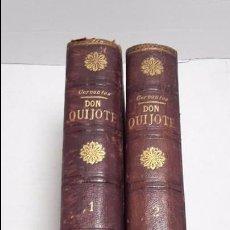 Libros antiguos: DON QUIJOTE DE LA MANCHA DOS TOMOS COMPLETO.. Lote 71599759