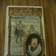 Libros antiguos: DON QUIJOTE DE LA MANCHA AÑO 1931 EDICCION ESPECIAL CON GRABADOS . Lote 109112971