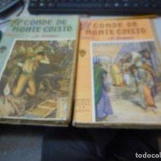 Libros antiguos: OBRA COMPOLETA DOS TOMOS EL CONDE DE MONTECRISTO SOPENA. Lote 110043543