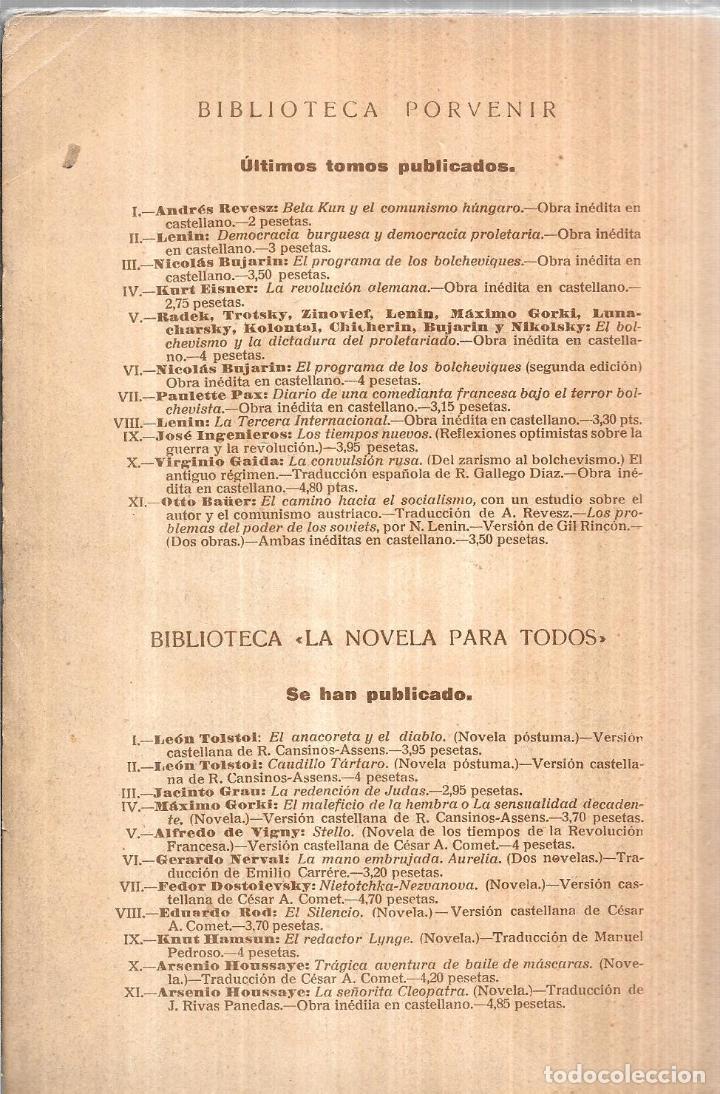 Libros antiguos: LA MONARQUIA, LA PRIVANZA Y EL INGENIO. DIEGO SAN JOSE. EDITORIAL- AMERICA. 1922. - Foto 5 - 192858240