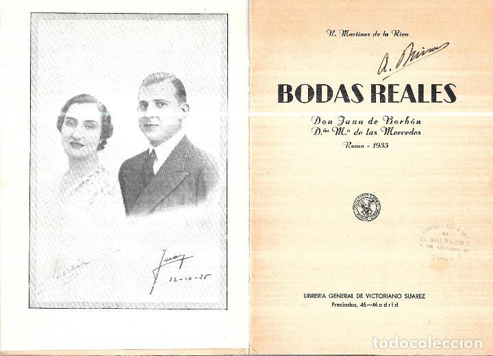 Libros antiguos: BODAS REALES. D. JUAN DE BORBON Y Dª Mª DE LAS MERCEDES. 1935. LIBRERIA GENERAL DE VICTORIANO SUAREZ - Foto 3 - 110532131