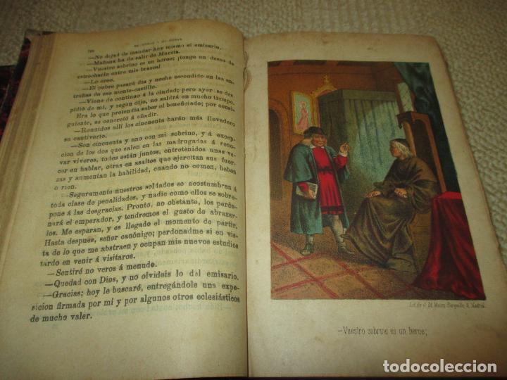 Libros antiguos: El héroe y el César, por Florencio Luis Parreño, 1886, con láminas cromolitográficas - Foto 4 - 112802751