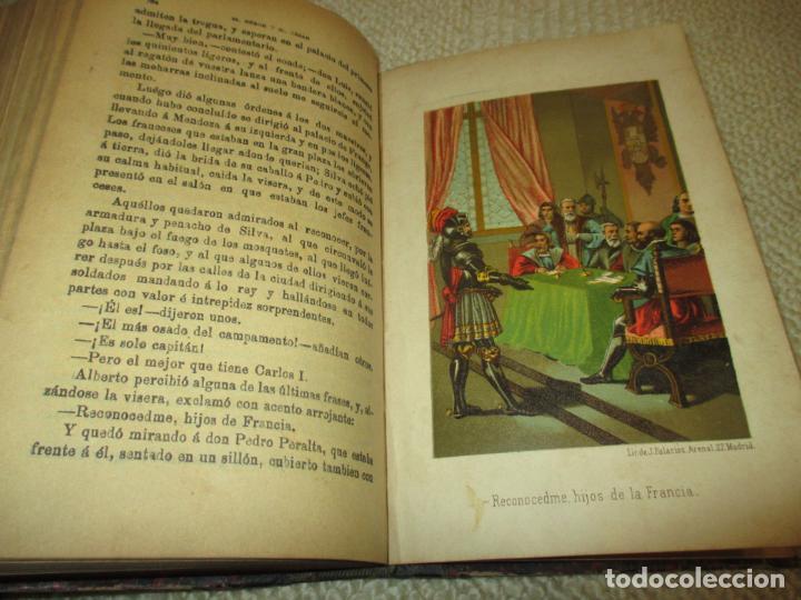 Libros antiguos: El héroe y el César, por Florencio Luis Parreño, 1886, con láminas cromolitográficas - Foto 6 - 112802751