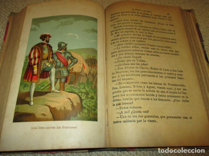 Libros antiguos: El héroe y el César, por Florencio Luis Parreño, 1886, con láminas cromolitográficas - Foto 8 - 112802751