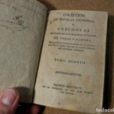 1796, NOVELAS ESCOGIDAS O ANECDOTAS, TOMO IV