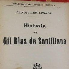 Libros antiguos: HISTORIA DE GIL BLAS DE SANTILLANA -ALAIN DE LESAGE.SOPENA 1935-88 PAG.. Lote 113357467